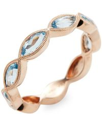 Meira T - Rose Gold & Topaz Domed Band Ring - Lyst