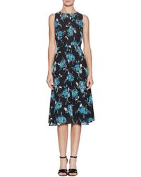 The Letter - Floral Print Pleated Midi Dress - Lyst