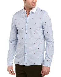 Gucci - Bee Fil Coupe Cambridge Woven Shirt - Lyst