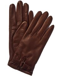 Portolano - Belted Cashmere-lined Leather Gloves - Lyst
