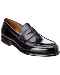 Ferragamo - Leather Penny Loafer - Lyst