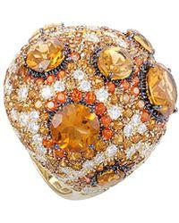 Roberto Coin - 18k & Rhodium 2.70 Ct. Tw. Diamond & Gemstone Ring - Lyst