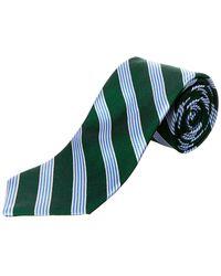 Brooks Brothers - Green Stripe Silk Tie - Lyst