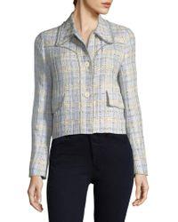 Miu Miu - Tweed Cropped Jacket - Lyst
