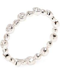 Nephora - 14k White Gold & 0.45 Total Ct. Diamond Bezel Ring - Lyst