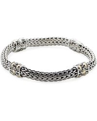 3eb3c1af75f75b Lyst John Hardy Jaisalmer Gold Silver Dotted Station Bracelet In