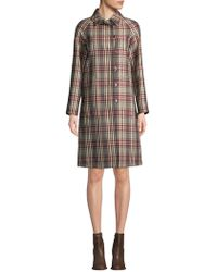 Derek Lam - Collared Plaid Trench Coat - Lyst