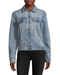 Philosophy - Long-sleeve Denim Jacket - Lyst