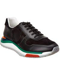 11b18bb4d11f7 Ferragamo - Rainbow Suede Sneaker - Lyst