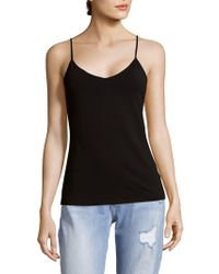 Saks Fifth Avenue Black - V-neck Camisole - Lyst