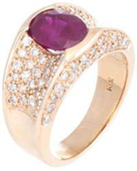 Estate Fine Jewelry - Ruby & Diamond Ring - Lyst