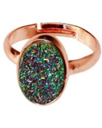 Saachi - Multi Druzy Oval Ring - Lyst