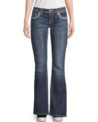 Miss Me - Embellished Border Bootcut Jeans - Lyst