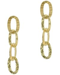 Argento Vivo - 18k Over Silver Textured Oval Link Drop Earrings - Lyst