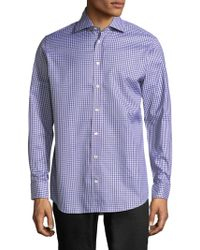 Luciano Barbera - Checkered Buttons Sportshirt - Lyst