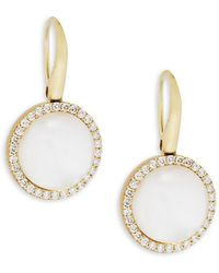 Roberto Coin | Mother-of-pearl, Diamond, Crystal And 18k Gold Satin Doublet Earrings | Lyst