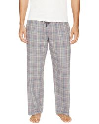 Ben Sherman - Heathered Plaid Flannel Pajama Pant - Lyst