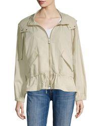 Donna Karan - Hooded Long-sleeve Jacket - Lyst