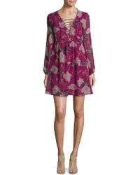 Ella Moss - Floral-print Georgette Dress - Lyst