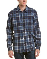 7 For All Mankind - 7 For All Mankind Brushed Plaid Shirt - Lyst