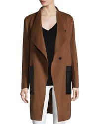 SOIA & KYO - Double Face Wool Coat - Lyst