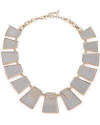 ABS By Allen Schwartz - Gold Coast Glitter Panel Collar Necklace - Lyst