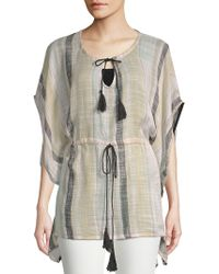 Vince Camuto - Turkish Towel Stripe Poncho Top - Lyst