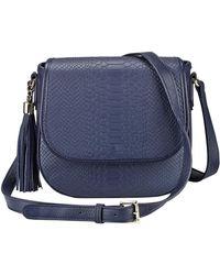 Gigi New York - Kelly Embossed Tassel Saddle Bag - Lyst