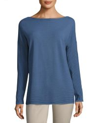 Lafayette 148 New York - Rib-knit V-back Sweater - Lyst