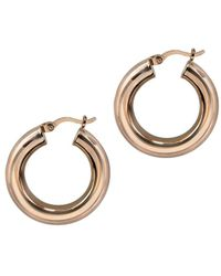 Argento Vivo - 18k Rose Gold Over Silver Small Chunk Tube Hoops - Lyst
