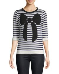 Manoush - Striped Bow Sweater - Lyst