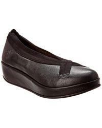 Fly London Bobi Leather Wedge - Black