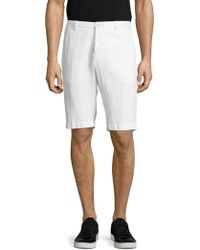 Etro | Solid Cotton Shorts | Lyst
