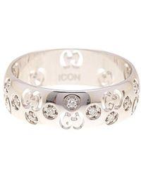Gucci Icon Bold 18k 0.12 Ct. Tw. Diamond Ring