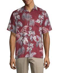 Tommy Bahama - Boca Da Palm Silk Button-down Shirt - Lyst