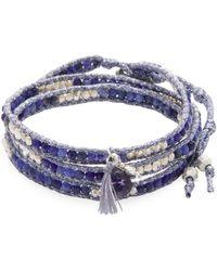 Chan Luu - Ribbon & Stone Wrap Bracelet - Lyst