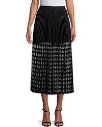 MSGM - Pleated Midi Skirt - Lyst