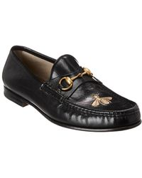 Gucci - Horsebit Leather Loafer - Lyst
