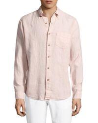 Tailor Vintage - Solid Button-down Sportshirt - Lyst