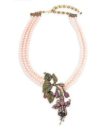Heidi Daus - Stargazer Faux Pearl And Crystal Pendant Necklace - Lyst