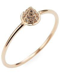 Sydney Evan - 14k Diamond Cone Spike Ring - Lyst
