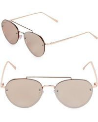 Fantaseyes - Tinted 54mm Aviator Sunglasses - Lyst