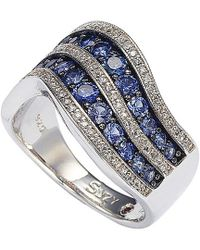Suzy Levian - Silver Sapphire Ring - Lyst