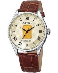 August Steiner - Gold Ingot Textured Dial Watch, 41mm - Lyst
