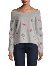Rebecca Minkoff - Off-the-shoulder Sweatshirt - Lyst