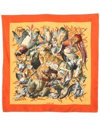 "Hermès - ""new Gibiers"" By Henri De Linares Silk Scarf - Lyst"