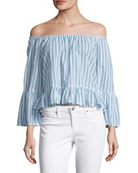 Faithfull The Brand - Galle Cotton Striped Blouse - Lyst