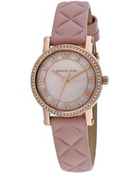63273375db77 Lyst - Michael Kors Watches S Petite Norie Rose Gold-tone Watch in ...
