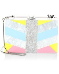 MILLY - Geometric Square Box Convertible Clutch - Lyst
