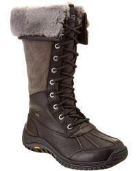 0654028e564 UGG Adirondack Ii Waterproof Leather Snake Print Tall Boot - Lyst